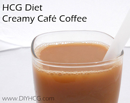 Creamy Cafe Coffee Drink for Phase 2 of the HCG Diet. Perfect!
