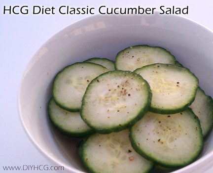 hcg diet recipes phase cucumber