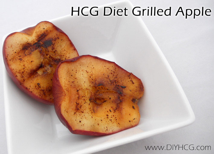 Grilled Apple Recipe for the HCG Diet.