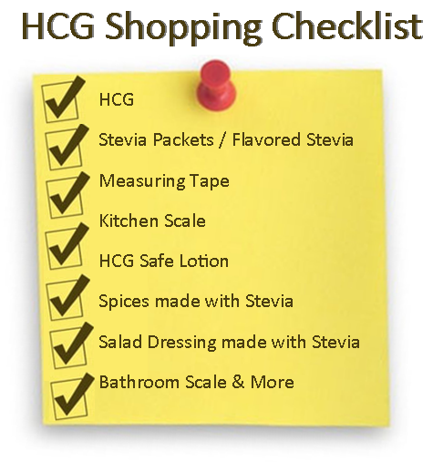 Get the best HCG shopping list here... super helpful!