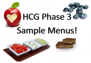 HCG Diet Maintenance Phase 3 Sample Menus