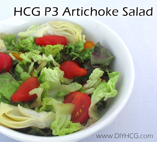 Simply artichoke salad for phase 3 of the HCG diet... or for healthy living in general.