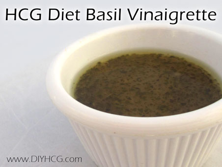 Most HCG salad dressing recipes are boring and bland... but not this one! This one is packed with flavors of basil and garlic.... yum!