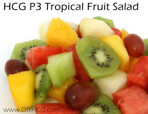 Fresh, healthy fruit salad for phase 3 of the HCG diet. Perfect for summer time!