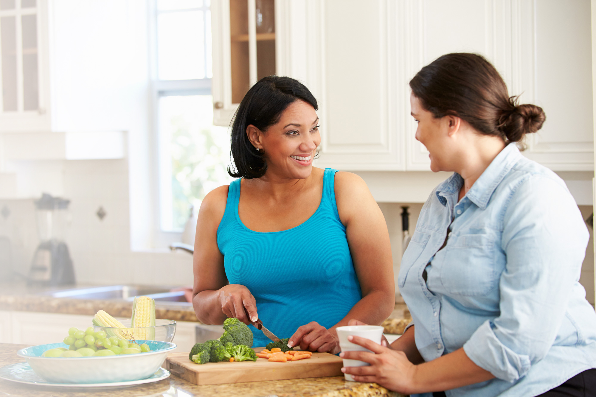 Family Cooking Healthy with DIY HCG Diet