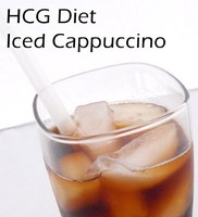 Iced Cappuccino for Phase 2 of the HCG Diet.