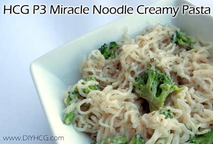 Awesome recipe for phase 3 of the HCG Diet made with Miracle Noodles