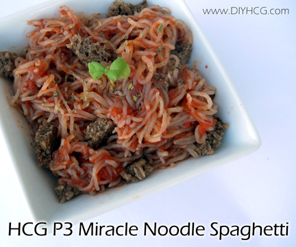 Miracle Noodle recipe for phase 3 of the HCG Diet.
