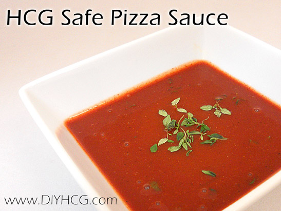 HCG Safe Pizza Sauce for Phase 2 of the HCG Diet.