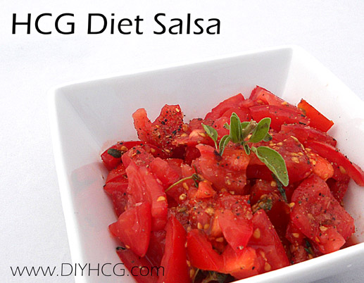 HCG Diet Salsa for Phase 2 of the HCG Diet. This HCG recipe is supper yummy!