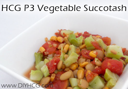 Eat your veggies! This HCG P3 recipe will help you get in your vegetable servings while on Phase 3 of the HCG Diet.