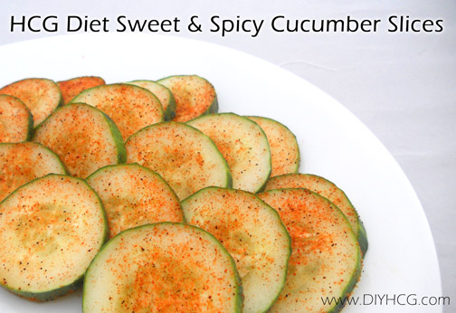 HCG Sweet & Spicy Cucumber Slices Recipe for Phase 2 of the HCG Diet.