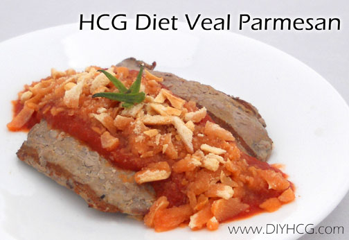Make this amazing veal parmsan recipe while on phase 2 of the HCG diet to make your taste buds dance!