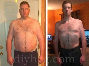 He used DIY HCG Products from diydietstore.com to lose weight.