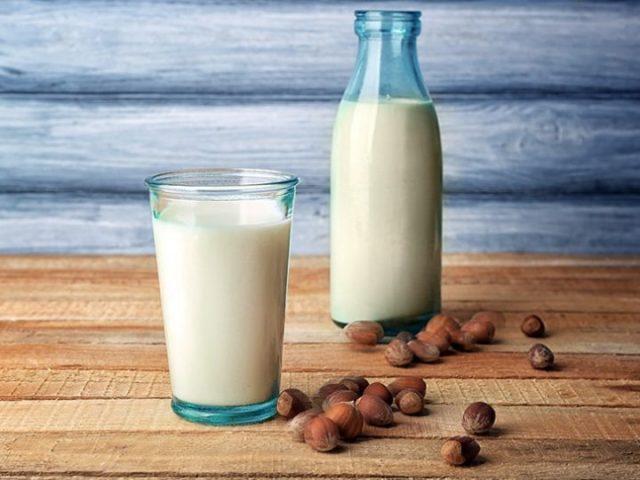 "thumbnail for post titled ""8 Benefits of Drinking Hazelnut Milk"""